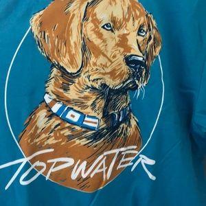 Golden retriever fishing shirt